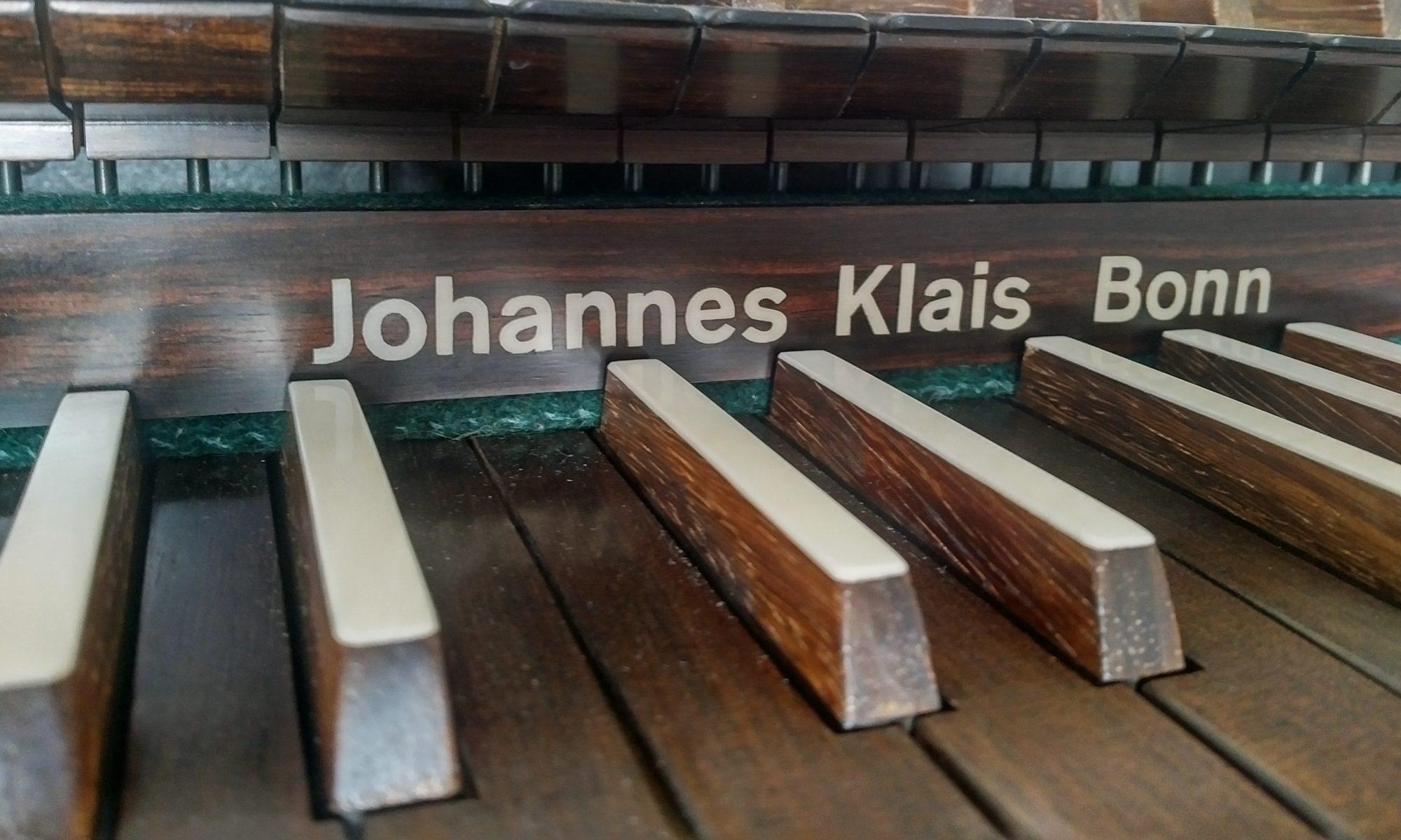 Mein Klais-Spieltisch & Hauptwerk